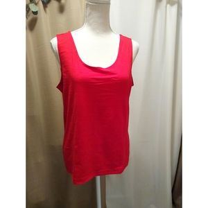 Size 2 (L) Chico's bright red cami / shell